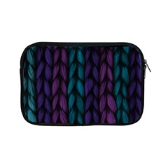 Background Weave Plait Blue Purple Apple Ipad Mini Zipper Cases by Celenk