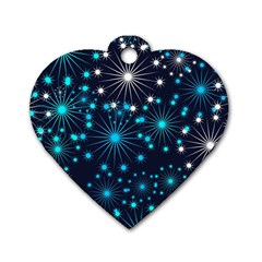 Wallpaper Background Abstract Dog Tag Heart (two Sides)