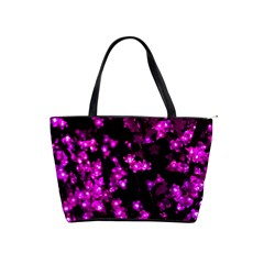 Abstract Background Purple Bright Shoulder Handbags by Celenk