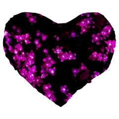Abstract Background Purple Bright Large 19  Premium Heart Shape Cushions by Celenk