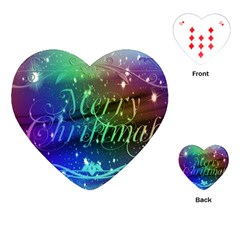 Christmas Greeting Card Frame Playing Cards (heart)  by Celenk