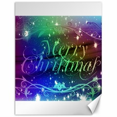Christmas Greeting Card Frame Canvas 12  X 16   by Celenk