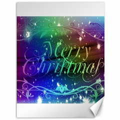 Christmas Greeting Card Frame Canvas 36  X 48   by Celenk