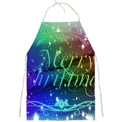 Christmas Greeting Card Frame Full Print Aprons by Celenk
