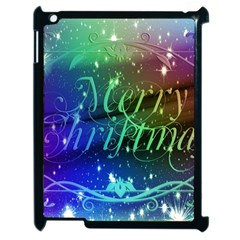 Christmas Greeting Card Frame Apple Ipad 2 Case (black) by Celenk