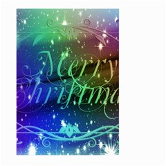 Christmas Greeting Card Frame Large Garden Flag (two Sides) by Celenk
