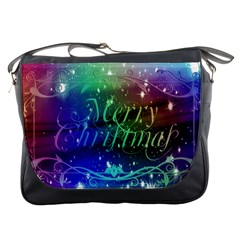 Christmas Greeting Card Frame Messenger Bags by Celenk