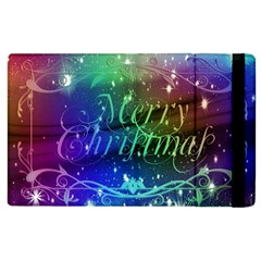 Christmas Greeting Card Frame Apple Ipad 3/4 Flip Case by Celenk