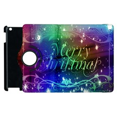 Christmas Greeting Card Frame Apple Ipad 3/4 Flip 360 Case by Celenk