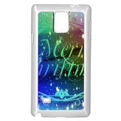 Christmas Greeting Card Frame Samsung Galaxy Note 4 Case (white) by Celenk