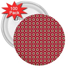Christmas Wrapping Paper 3  Buttons (100 Pack)  by Celenk