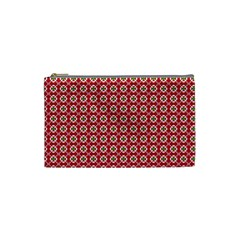 Christmas Wrapping Paper Cosmetic Bag (small)  by Celenk