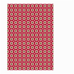 Christmas Wrapping Paper Small Garden Flag (two Sides) by Celenk