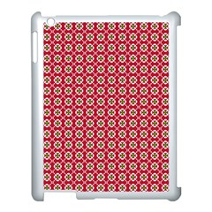Christmas Wrapping Paper Apple Ipad 3/4 Case (white) by Celenk