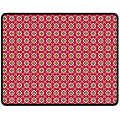 Christmas Wrapping Paper Double Sided Fleece Blanket (medium)  by Celenk