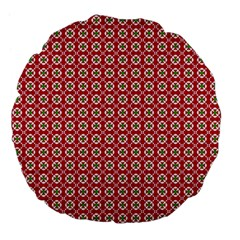 Christmas Wrapping Paper Large 18  Premium Flano Round Cushions by Celenk