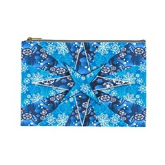 Christmas Background Wallpaper Cosmetic Bag (large)  by Celenk