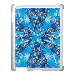 Christmas Background Wallpaper Apple Ipad 3/4 Case (white) by Celenk
