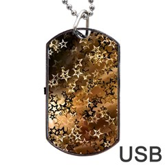 Star Sky Graphic Night Background Dog Tag Usb Flash (one Side) by Celenk