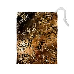 Star Sky Graphic Night Background Drawstring Pouches (large)  by Celenk