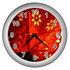 Star Light Christmas Romantic Hell Wall Clocks (silver)