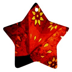 Star Light Christmas Romantic Hell Star Ornament (two Sides)