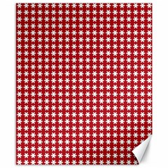 Christmas Paper Wrapping Paper Canvas 8  X 10  by Celenk