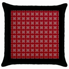 Christmas Paper Wrapping Paper Throw Pillow Case (black) by Celenk