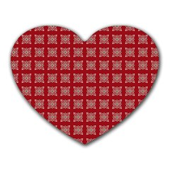 Christmas Paper Wrapping Paper Heart Mousepads