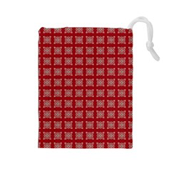 Christmas Paper Wrapping Paper Drawstring Pouches (large)  by Celenk