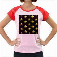 Stars Backgrounds Patterns Shapes Women s Cap Sleeve T Shirt