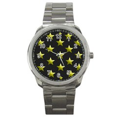 Stars Backgrounds Patterns Shapes Sport Metal Watch by Celenk