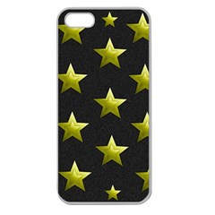 Stars Backgrounds Patterns Shapes Apple Seamless Iphone 5 Case (clear) by Celenk