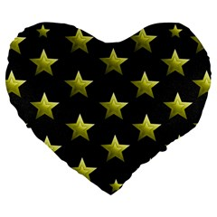 Stars Backgrounds Patterns Shapes Large 19  Premium Flano Heart Shape Cushions by Celenk