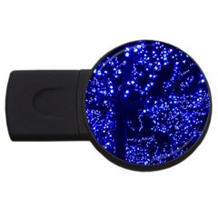 Lights Blue Tree Night Glow Usb Flash Drive Round (4 Gb) by Celenk