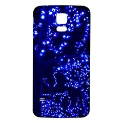 Lights Blue Tree Night Glow Samsung Galaxy S5 Back Case (white) by Celenk