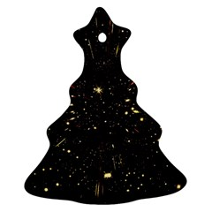 Star Sky Graphic Night Background Ornament (christmas Tree)