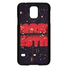 Star Sky Graphic Night Background Samsung Galaxy S5 Case (black) by Celenk