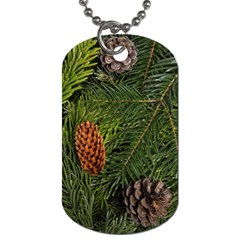 Branch Christmas Cone Evergreen Dog Tag (one Side) by Celenk