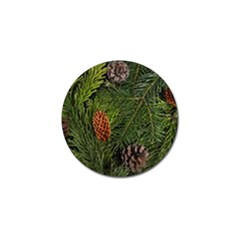 Branch Christmas Cone Evergreen Golf Ball Marker (4 Pack) by Celenk