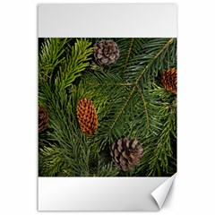 Branch Christmas Cone Evergreen Canvas 24  X 36  by Celenk