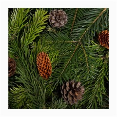 Branch Christmas Cone Evergreen Medium Glasses Cloth