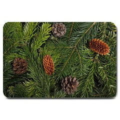 Branch Christmas Cone Evergreen Large Doormat  by Celenk