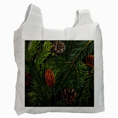 Branch Christmas Cone Evergreen Recycle Bag (one Side)