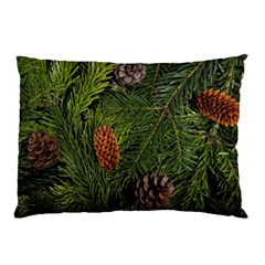 Branch Christmas Cone Evergreen Pillow Case (two Sides)
