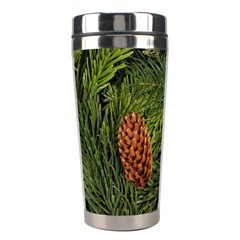 Branch Christmas Cone Evergreen Stainless Steel Travel Tumblers by Celenk