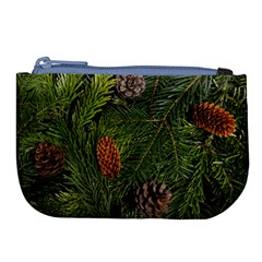Branch Christmas Cone Evergreen Large Coin Purse by Celenk