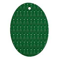 Christmas Tree Pattern Design Ornament (oval) by Celenk