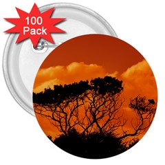 Trees Branches Sunset Sky Clouds 3  Buttons (100 Pack)