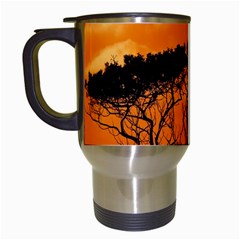 Trees Branches Sunset Sky Clouds Travel Mugs (white) by Celenk